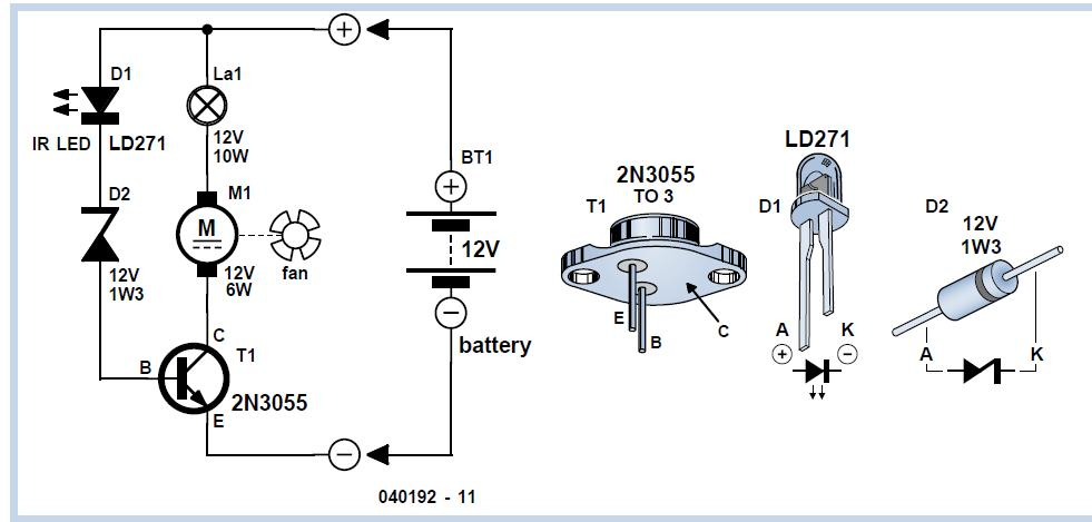 Garage Timer Schematic Circuit Diagram