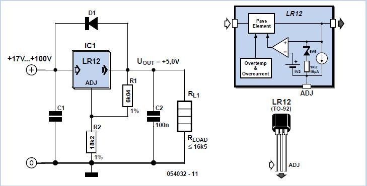High Voltage Regulator Schematic Circuit Diagram
