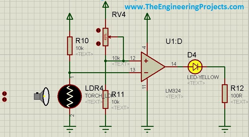 How to use LDR Sensor in Proteus Schematic Circuit Diagram