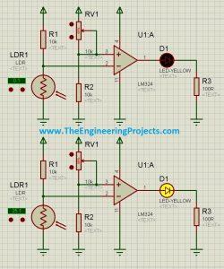 How to use LDR Sensor in Proteus Schematic Circuit Diagram 6