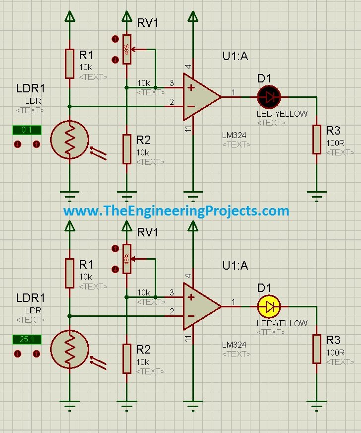 How to use LDR Sensor in Proteus Schematic Circuit Diagram 6