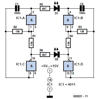 Long-Interval Pulse Generator Schematic Circuit Diagram