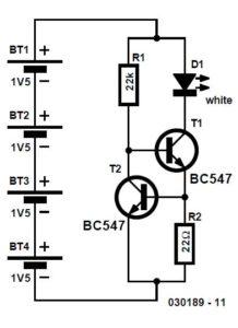 LED Light Pen Schematic Circuit Diagram
