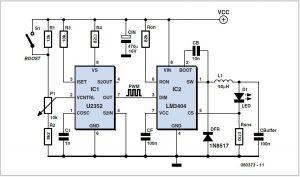 LED Switching Regulator Schematic Circuit Diagram