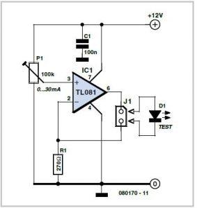 LED Tester Schematic Circuit Diagram