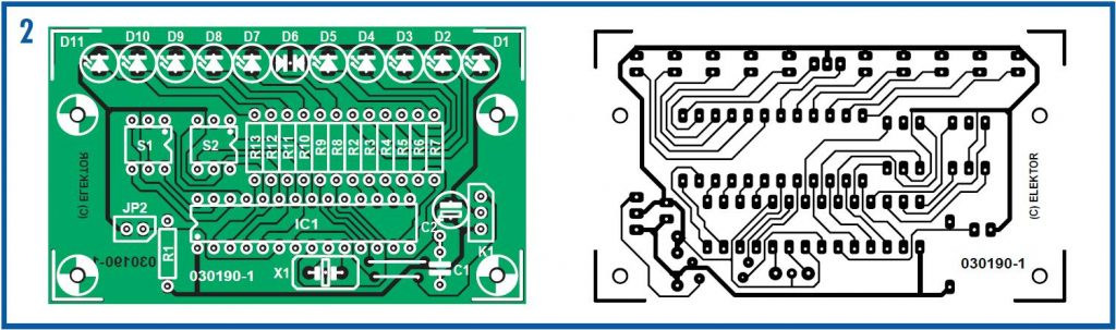 LED Thermometer Schematic Circuit Diagram 2