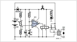 Lead Acid Battery Protector Schematic Circuit Diagram