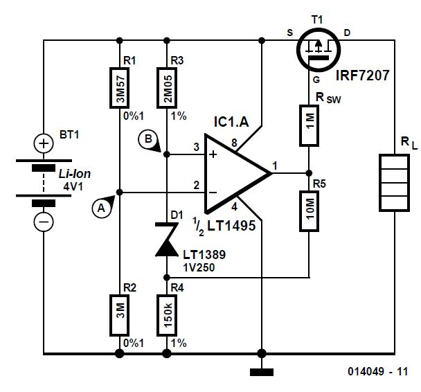 Li-Ion Protection Circuit Schematic Circuit Diagram