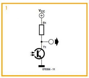 Light Sensing with an LED Schematic Circuit Diagram 1