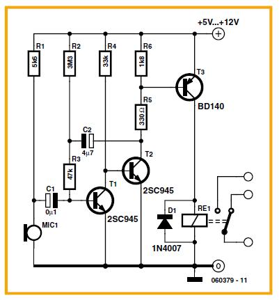 Light-seeking Robot Schematic Circuit Diagram