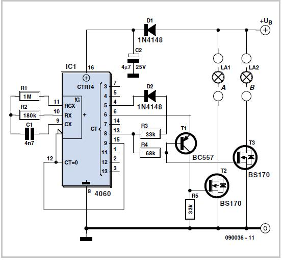 LED Bicycle Lights Schematic Circuit Diagram