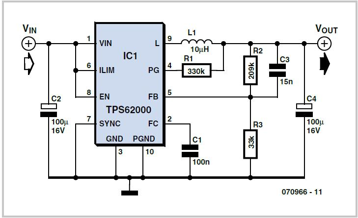 Low-Voltage Step-Down Converter Schematic Circuit Diagram