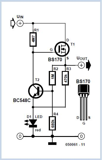 Micropower Voltage Regulator Schematic Circuit Diagram