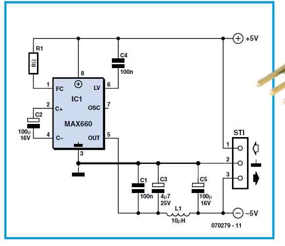Switch-Mode 555 Supply Schematic Circuit Diagram