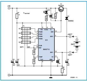 Multi-purpose NiCd & NiMH Charger Schematic Circuit Diagram 1