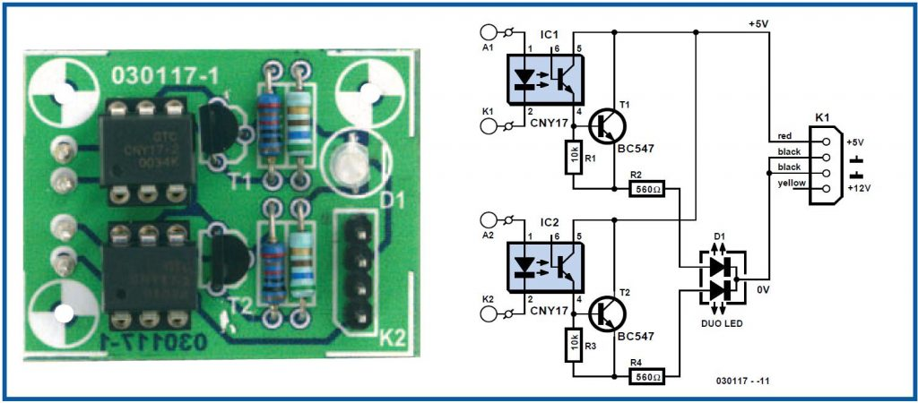 Multicolour HD LED Schematic Circuit Diagram