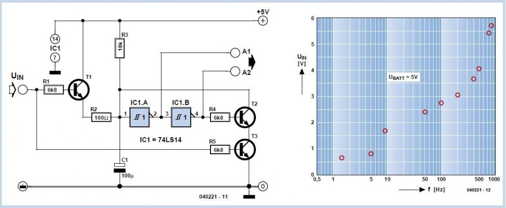 1:800 Oscillator Schematic Circuit Diagram