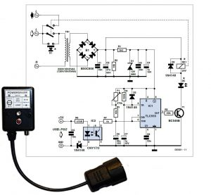 PC Power Saver Schematic Circuit Diagram