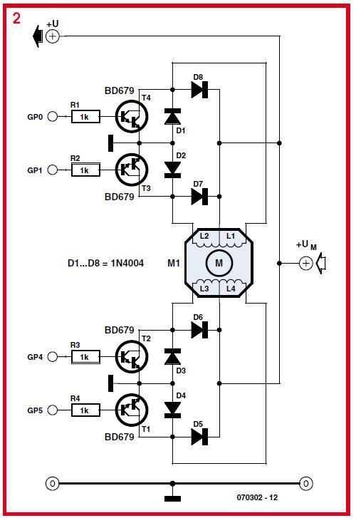PIC12C508 Stepper Motor Controller Schematic Circuit Diagram 2