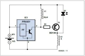 PR4401 1-Watt LED Driver Schematic Circuit Diagram