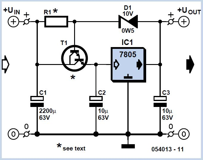 Protection for Voltage Regulators Schematic Circuit Diagram