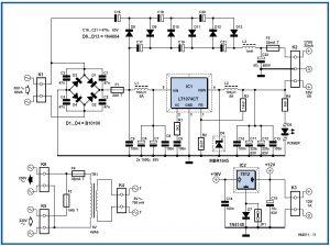 Quad Power Supply for Hybrid Amp Schematic Circuit Diagram