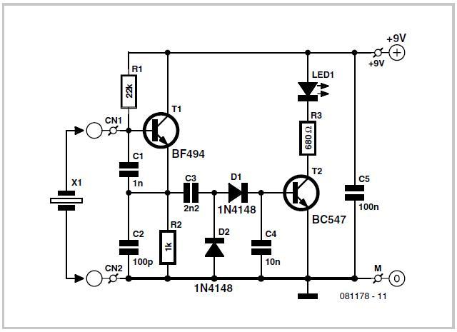 Photo of Quartz Crystal Tester Schematic Circuit Diagram