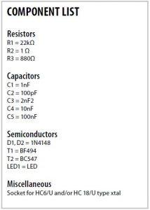 Quartz Crystal Tester Schematic Circuit Diagram 3