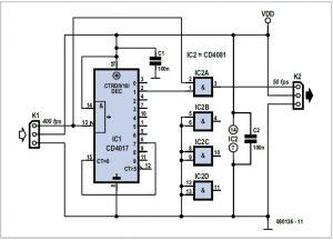Radio Control Signal Frame-rate Divider Schematic Circuit Diagram 1