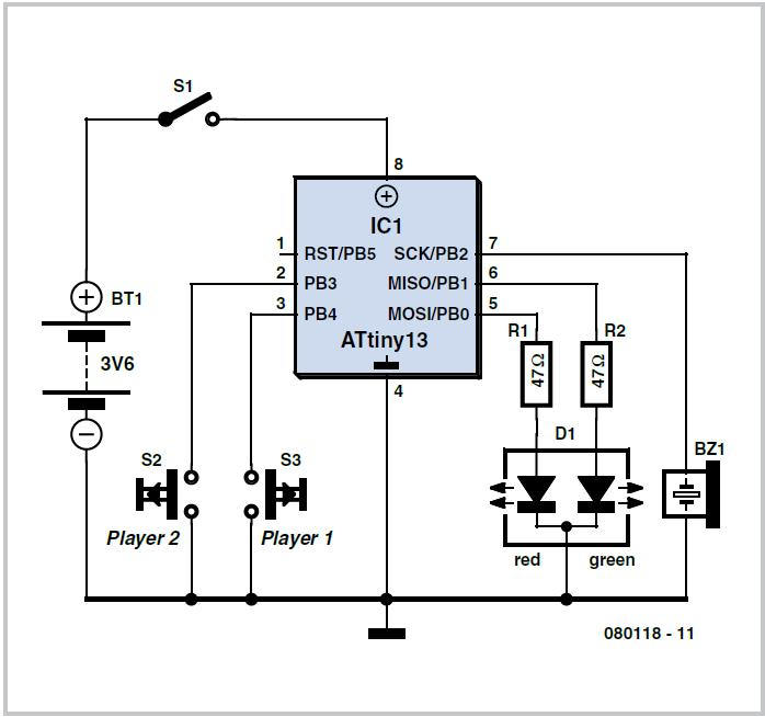 Temperature Sensor with 2-Wire Interface Schematic Circuit Diagram