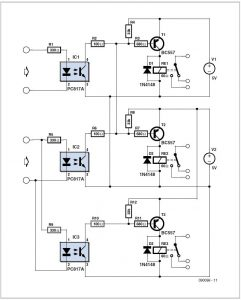 Remote Control for Network Devices Schematic Circuit Diagram