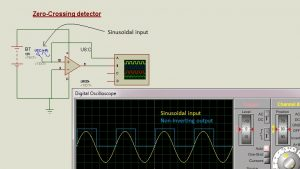 Schematic Circuit Diagram Op-Amp as Zero-Crossing detector proteus simulation