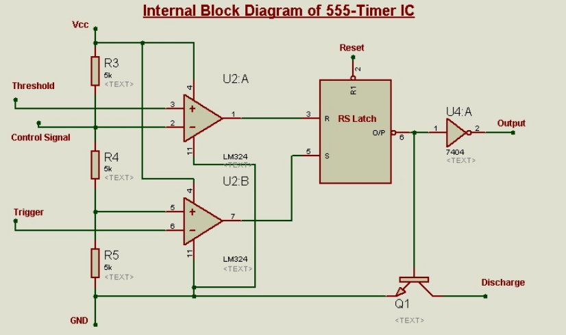 Schematic Circuit Diagram Monostable Latch using 555-Timer proteus simulation