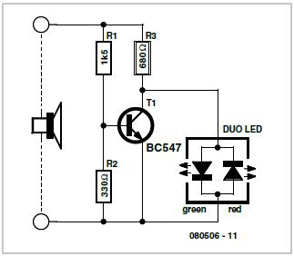 Simple Audio Power Meter Schematic Circuit Diagram