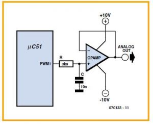 Simple D over A Converter for Robots Schematic Circuit Diagram