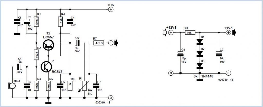 LED Flasher for 230 V Schematic Circuit Diagram