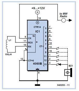 Simple Oscillator Pipe Locator Schematic Circuit Diagram