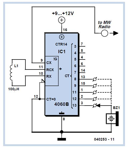 Simple Oscillator Pipe Locator Schematic Circuit Diagram