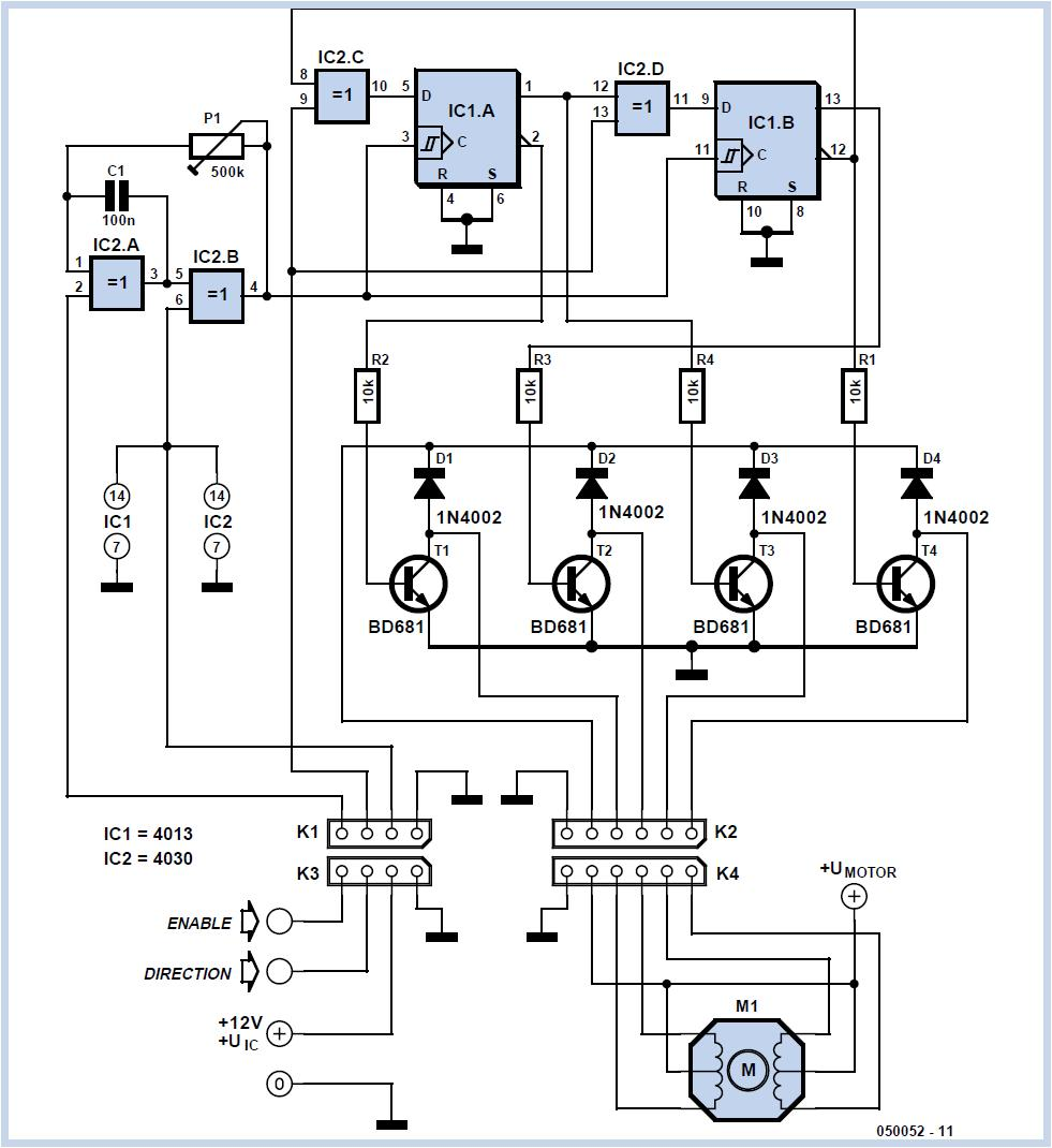 Simple Stepper Motor Driver Schematic Circuit Diagram
