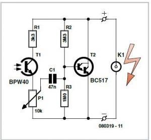 Slave Flash Trigger Schematic Circuit Diagram