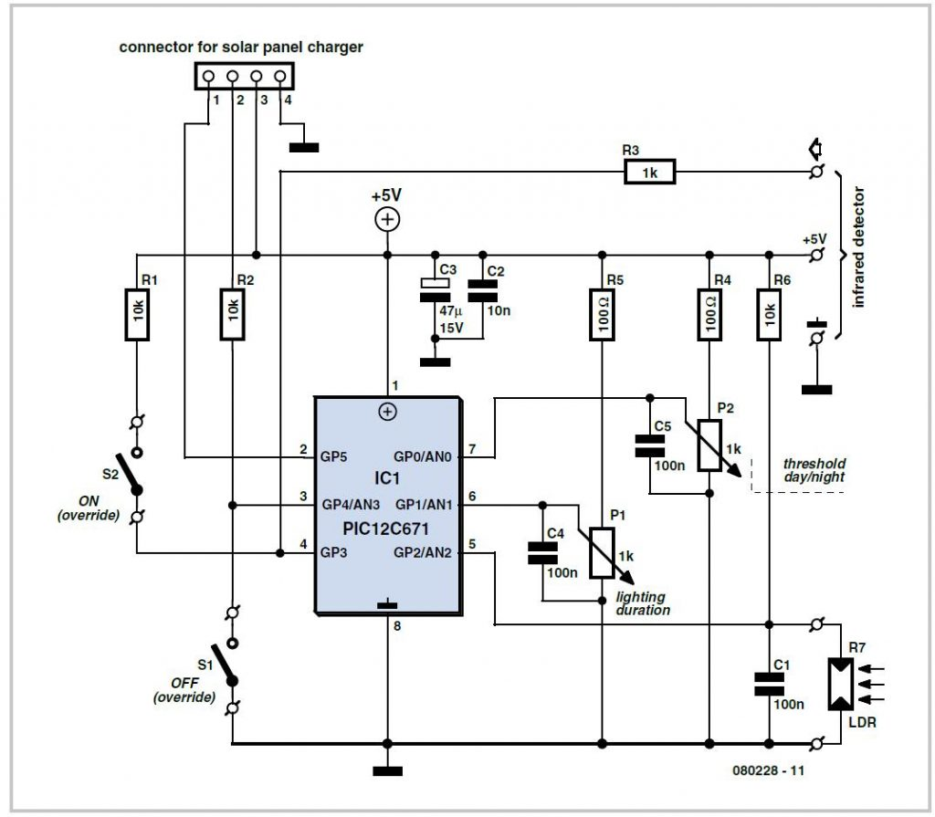 Dimmable LED Light  Schematic Circuit Diagram