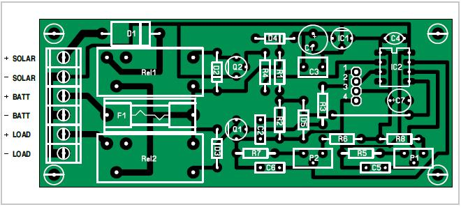 Solar-powered Battery Charger Schematic Circuit Diagram 2