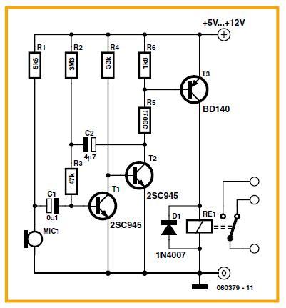 Overheat Detector Alarm/Switch Schematic Circuit Diagram