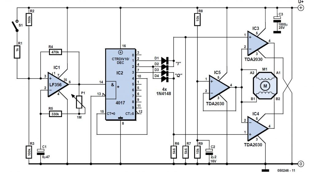 Stepper Motor Controller Schematic Circuit Diagram