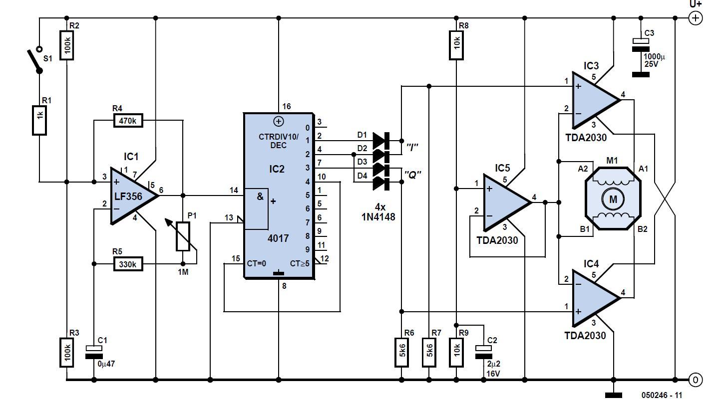 Stepper Motor Controller Schematic Circuit Diagram