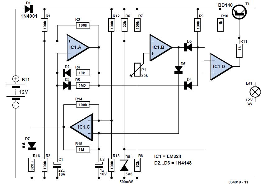 Storage Battery Exerciser Schematic Circuit Diagram