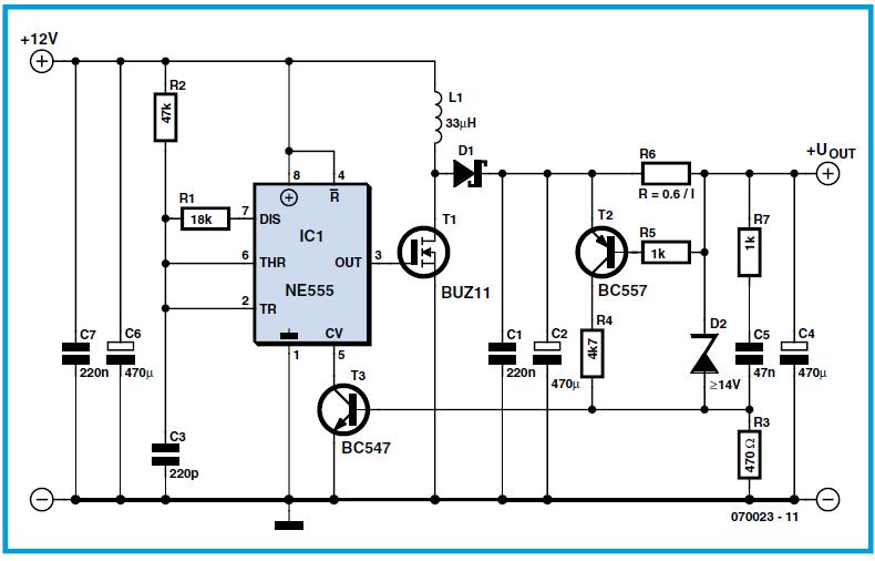 Switch Mode 555 Supply Schematic Circuit Diagram