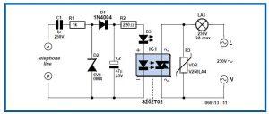 Telephone Ringer Schematic Circuit Diagram