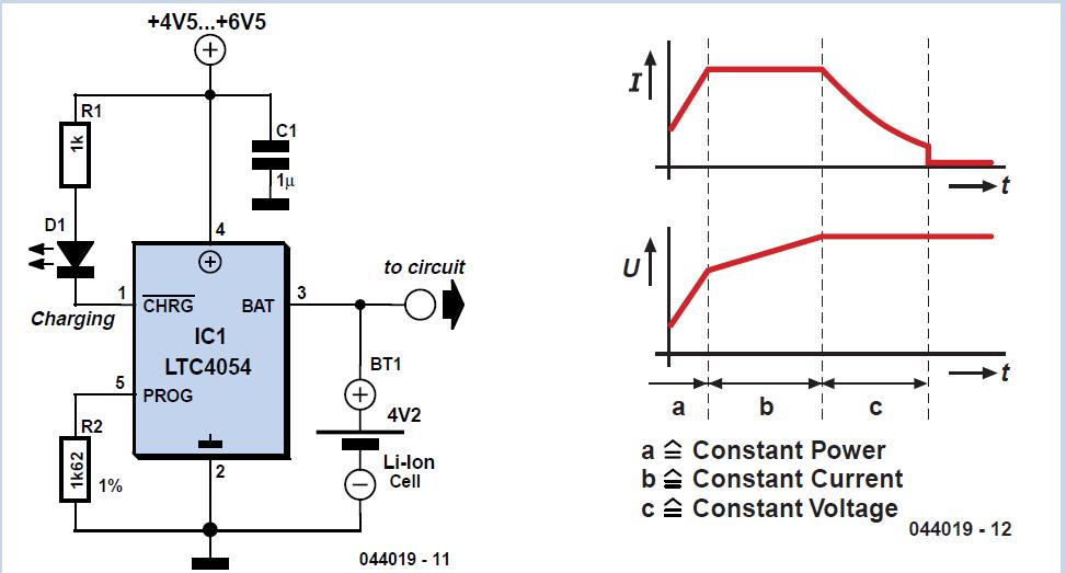 Three-component Li-ion Charger Schematic Circuit Diagram