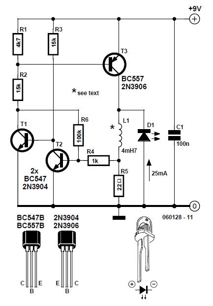 Thrifty LED Protector Schematic Circuit Diagram